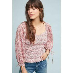 New Anthropologie Smocked Blouse by Ranna Gill